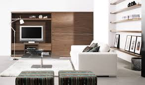 Living Room Designs With Red Brick Fireplace Modern Living Room Design With Fireplace Walnut Wall Shelves Brown