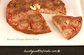 paleo banana upside down cake