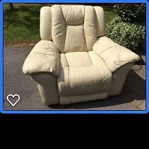 Motorised Recliner Armchairs Cream Leather Motorised Recliner Armchair With Mains Connection