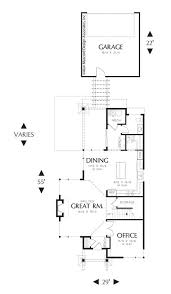 narrow house plans with garage 52 best narrow house plans images on cabana sheds and