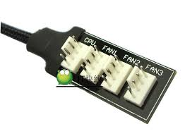chassis fan connector splitter host case pc cooler fan power cable 1 female to 4 male 4pin