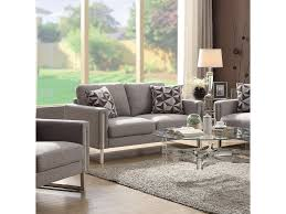 coaster stellan modern loveseat with stainless steel arm del sol