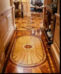 Faux Painted Floors - painted floor glazing and marbleizing on faux painted floor in