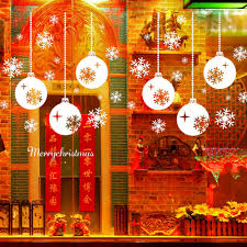 high quality year and merry christmas snowflake stickers for