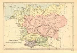 germania map ancient germany germania rhaetia noricum provinces 1876