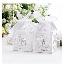 favor ribbons 50pcs laser cut wedding bird wedding favor candy gifts