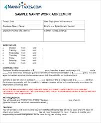 nanny contracts after nanny contract nanny contract 7