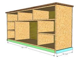 how to build a tv cabinet free plans ana white apothecary console diy projects