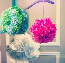 how to make tissue pom poms easy crafts and homemade decorating