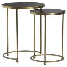 crate and barrel nesting tables moreno round brass nesting tables