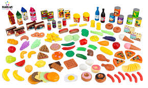 cuisine kidcraft kidkraft play food set 125 pc 63187