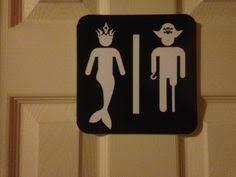 Pirate Bathroom Decor by Pirate Bathroom Kids Wall Art His Hers Kids Bathroom Boy