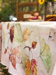 autumn leaves tablecloth linens u0026 kitchen tablecloths