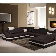 canap d angle bois et chiffon canapé d angle design noir et blanc atilde achat vente canapé