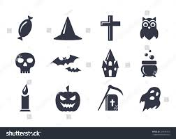set simple black vector icons isolated stock vector 328436423