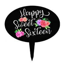 Happy Birthday Rose Cake Toppers Zazzle