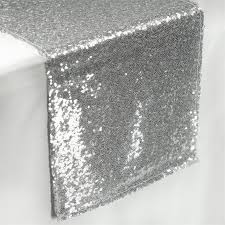 silver sequin table runner sequin table runners 108 x 12 silver efavormart