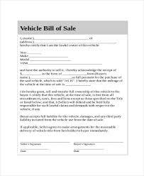 generic bill of sale template 8 free word pdf document