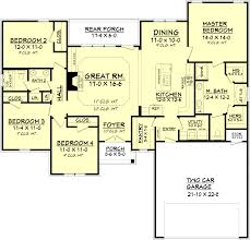 country style house plan 4 beds 2 baths 1798 sq ft plan 430 93