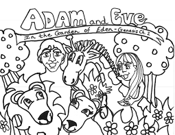 free printable adam eve coloring pages kids