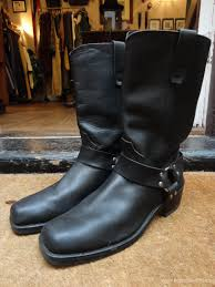 mens boots motorcycle boots sale vintage black leather durango harness ring boots