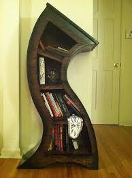 Bookshelves Oak by Handmade 4ft Curved Bookshelf Oak Stained Blk Alice In