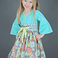 kimono inspired girls dress kokeshi doll from pink mouse kids