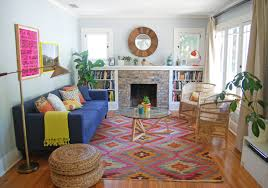 Colorful Kilim Rug Innovative Kilim Rug In Living Room Contemporary With Pink And