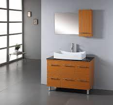 abodo 39 inch contemporary bathroom vanity white vessel sink