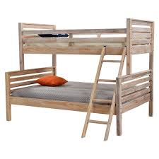 Montauk Natural Twin Over Full Bunk Bed Made In Brazil El Dorado - Full bunk bed