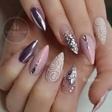 50 rhinestone nail art ideas high gloss metallic and holidays