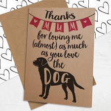s day card s day card for dog loving mums by well bred design