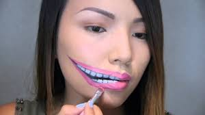 halloween makeup smile lips make up creepy stretched lips make up halloween 2013 youtube
