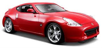 nissan 370z rear bumper amazon com 1 24 nissan 370z red toys u0026 games