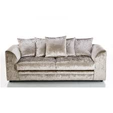 Three Seater Sofa Bed Crushed Velvet Furniture Sofas Beds Chairs Cushions