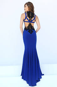 high neck sleeveless black lace appliqued red long mermaid prom