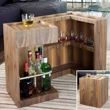Mini Bar Table Mini Bar Side Table Walnut How Awesome My Project Pinterest