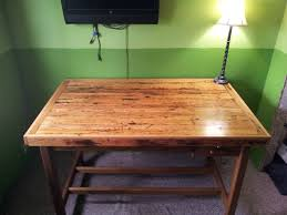 Old Drafting Table I Made A Top To An Antique Drafting Table Out Of Old Oak Flooring