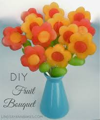 how to make fruit bouquet flower fruit pops lindsay bakes