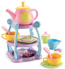 fisher price servin u0027 surprises tea party set amazon co uk toys
