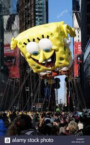 spongebob squarepants balloon float at macy s 85th annual stock