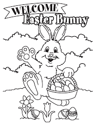free printable easter bunny coloring pages kids