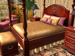 second life marketplace tradewinds 4 poster mahogany bedroom set