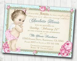 angel baby shower invitations iidaemilia com