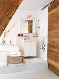 marvelous simple traditional bathroom design with wooden sliding marvelous simple traditional bathroom design with wooden sliding door image