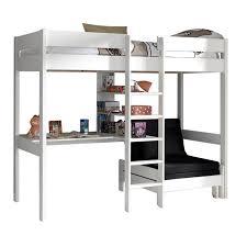lit mezzanine bureau blanc lit mezzanine avec fauteuil pino blanc
