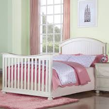 Cribs That Convert Into Beds Creations Southport Collection Convertible Crib W Guard Rail