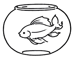 tropical fish clip art black and white clipart panda free