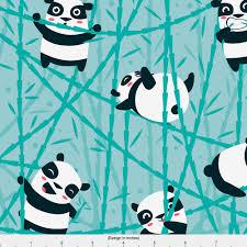 Panda Nursery Decor by Panda Fabric Panda Bamboo By Ewa Brzozowska Panda Modern