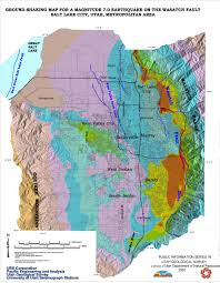 Map Utah Ground Shaking U2013 Utah Geological Survey